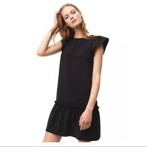 LOFT 🆕 NWT flutter sleeve ruffle dress